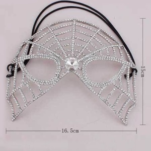 Máscara de Halloween Spikewebs Crystal Spikewebs