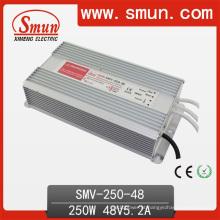 Motorista do diodo emissor de luz da fonte de alimentação IP67 do interruptor de 250W 48V 5.2A
