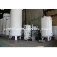 Réservoir de dioxyde de carbone d'argon d'oxygène liquide en acier soudé