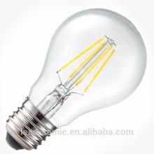 Nouvelle arrivée, fournisseur de fabricant, 360 °, 3W, 4W, 5W, 6W, E14, E26, E27 6W lampes à led haute luminaire filament