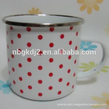 carbon steel enamel mug customized camping mug food safty