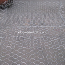 Hot mencelupkan Galvanized Hexagonal Mesh Gabion Basket