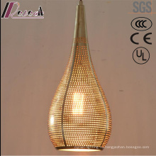 Простой металлический Золотой полый Подвеска свет столовая