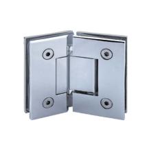 Bisagras para puertas de ducha de vidrio a vidrio de latón macizo