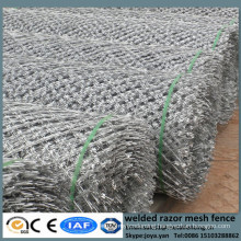Good concertina welding barriers diamond hole fence panels for enclosure security anti climb welded grills with sharp razor