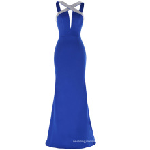 Kate Kasin Sleeveless Deep V-Back Keyhole Royal Blue Sexy Cheap Prom Dress KK001042-1