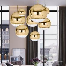 Most Popular Modern Luxury Plated Mirror Ball Glass Decorative Chandelier Pendant Light