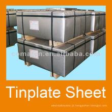 folha de Flandres com Sr 2.8/5.6 estanhagem T3BA para metal pode produção