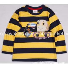 children\'s wear Manufacture Autumn Boys T shirt Yarn Dyed