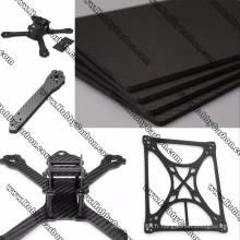 Coupure de commande numérique par ordinateur de feuille de fibre de carbone de fibre de carbone de 100% 3K pour l'industrie / cardan / FPV / Drone / cadre
