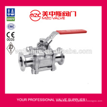 3PC Stainless Steel Ball Valves Clamped Ends 1000WOG 3PC Ball Valves