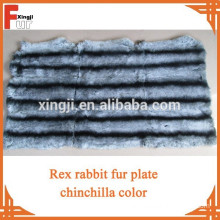 Rex rabbit plate dyed chinchilla color six strips