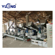 Yulong ring die biomass wood line for sale