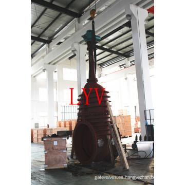 Válvula de compuerta con bridas de acero inoxidable con cuña flexible