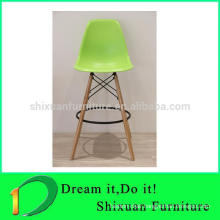High quality plastic seat metal legs bar chair