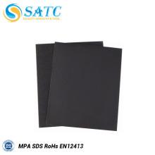Papel de lija abrasivo de carburo de silicio impermeable