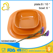 wholesale melamine plastic bamboo indian new design dinner set