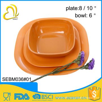 wholesale melamine plastic bamboo indian new design dinner set