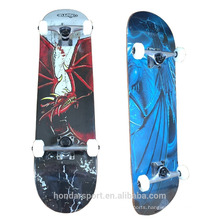Wholesale double kick 100 % canadian maple complete skateboard