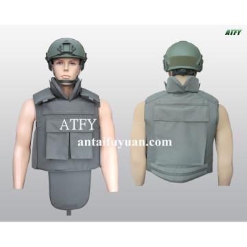 Chaleco antibalas militar contra balas de 9 mm.
