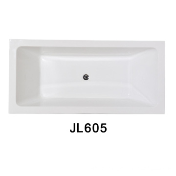 CE Drop-in Bathtub One End Built in Acrylic Bathtub (JL605)