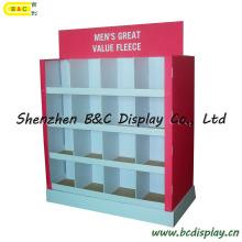 Présentoir de carton de grille, support d'affichage de papier, affichage de bruit, meubles de carton, support d'Unibody, étagères d'étagère d'emballage (B & C-A060)