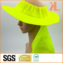 Bonnet à godet à mailles 100% polyester avec tuyauterie réfléchissante