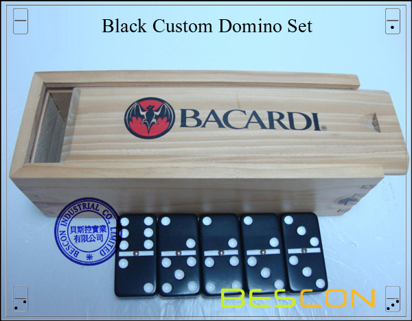 Black Custom Domino Set-3