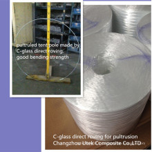 Bonne résistance à la flexion Fibre de verre Rinçage direct pour le poteau de tente
