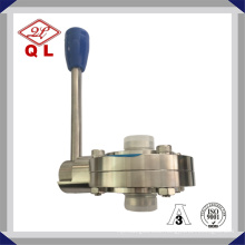 Food Grade Sanitary Stainless Steel Butterfly Valve 304 316L with Tc Clamp Weld Thread Male Female Connection