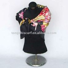 silk twill scarf for autumn promotion