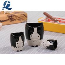 Tasses en céramique faites sur commande d'impression en céramique de conception animale de la conception 3d faite sur commande