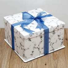 Unique design square white cake box