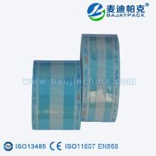 Rollo de embalaje plástico estéril médico autoclave de papel