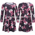 Mother And Daughter Autumn Winter Clothing Colorful Cartoon Print Christmas Matching Family Dress