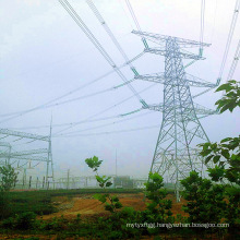 500 Kv Terminal Corner Power Transmission Angle Steel Tower