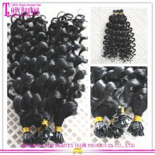 Extension de cheveux de pointe plate vierge