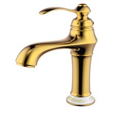 Grifo monomando para lavabo grifo para lavabo latón dorado