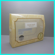 Yiwu cheap custom good quality PP plastic twill transparent clear underwear packaging boxes