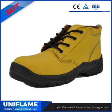 Yellow Leather Chile Prefer Pig Leather Lining Safety Shoes Ufb056