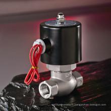 240V AC laiton ou acier inoxydable vapeur électrovanne avec ISO9001