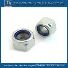 M3-M30 DIN985 DIN982 DIN6924 Ne Nte Tipo Tuerca de bloqueo de nylon