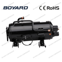 CE RoHS R22 hermetic Horizontal rotary compressor for rooftop air conditioner