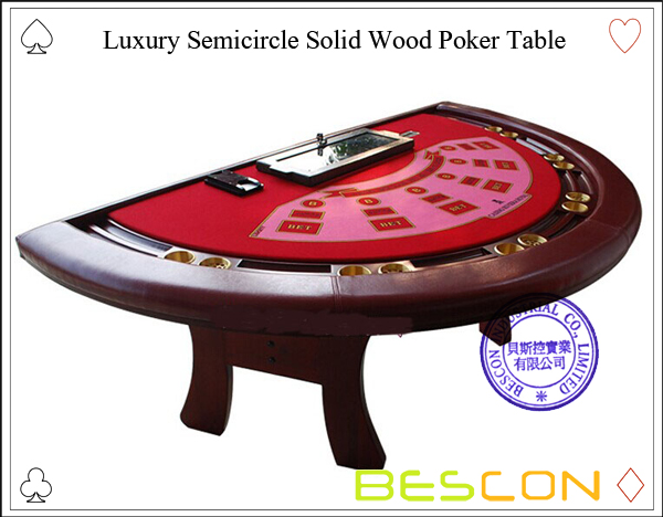 Luxury Semicircle Solid Wood Poker Table-2