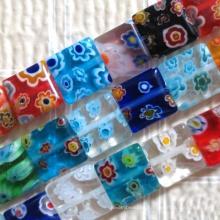 DIY Schmuck mundgeblasenem Glas gemischt Millefiori Perlen