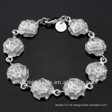 Venta caliente de plata esterlina joyas preciosas pulsera de flores para las mujeres BSS-017