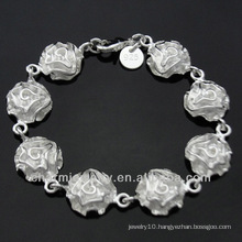 Hot Sale Sterling Silver Jewelry Lovely Flower Bracelet for Women BSS-017