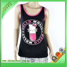 Custom Design Slim Cool Women Singlet with Your Own Logo