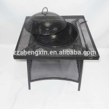 Black BBQ Grill, Metall Barbecue Ofen