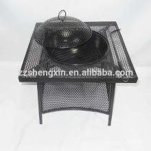 Черный гриль-барбекю, металлическая плита для барбекю